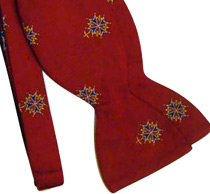 Huguenot Cross Bowtie - Red