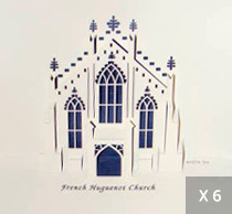 3D Church Noteard (pkg of 6)