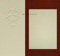 Embossed Cards, Ecru
