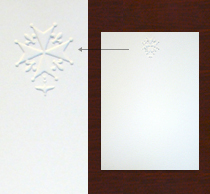Embossed Cards, White