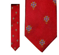 Huguenot Cross Tie - Red