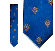 Huguenot Cross Tie - Blue